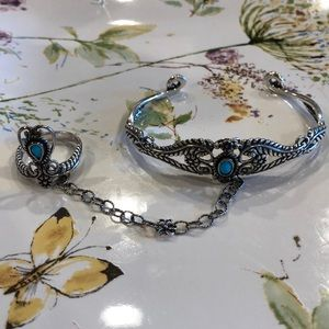Jewelry - American West Sleeping Beauty Bracelet and Ring